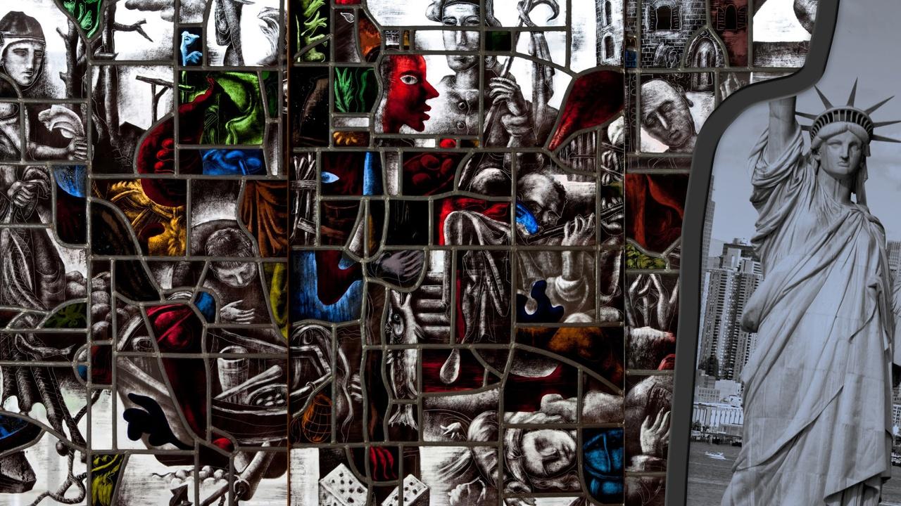 stedelijk historisch museum gebrandschilderd glas new york